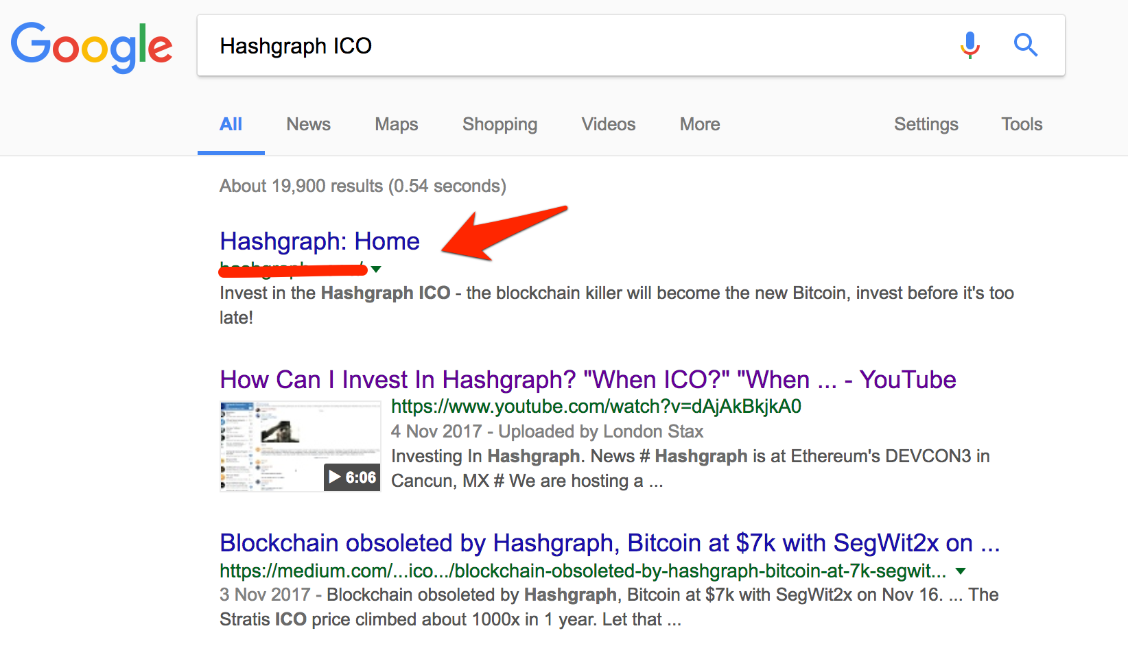 fake hashgraph ico