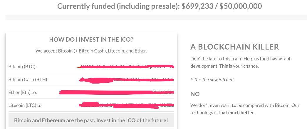 scam ICO - hashgraph